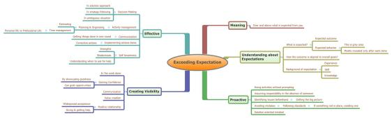 Exceeding Expectations Mind Map